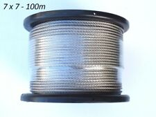 100m Marine Stainless Steel G316 Wire Rope Cable Decking Balustrade 7 X 7 3.2mm