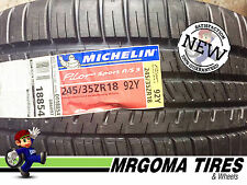 2 NEW 245/35/18 MICHELIN PILOT SPORT A/S 3 XL TIRES BMW 1 & 2 SERIES 92Y 2453518