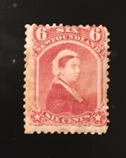 Stamps Canada Newfoundland Sc35 6c dull red Victoria of 1870,Pl see description.