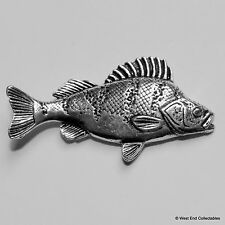 Sitzstangen Fisch Zinn Brosche britischer Handarbeit Friedfischangeln Angeln