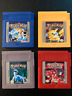 Pokemon Yellow Version, Red Version, Blue Version and Silver Version