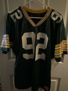 Vintage Wilson NFL Jersey Green Bay Packers #92 Made in USA No Nameplate