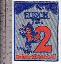 Beer Baseball Baltimore Orioles & Anheuser-Busch Presents 1980 AL Promo Patch