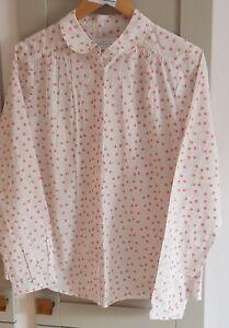 Ladies Floral Cotton Blouse John Lewis SIZE 14 Shirt Top EX-DISP WASHED RRP £49
