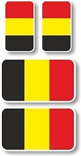 Vinyl sticker/decal Extra small 45mm & 35mm Belgium flags - group of 4