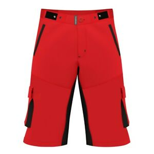 MTB Cycling Shorts(Red),Mountain Bike,Off Road,CoolMax Padded Inner Lycra Liner