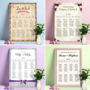 Personalised Wedding Seating Plan •  Planner • Table Plans • Seating Charts