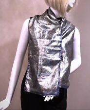 Women's Scarf OSCAR DE LA RENTA Metallic Shimmery Made in Italy