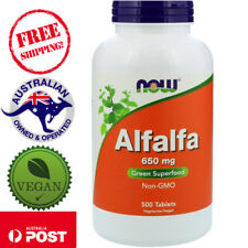 Now Foods, Alfalfa, 650 mg, 500 Tablets - Green Superfood - Vegan - Non-GMO