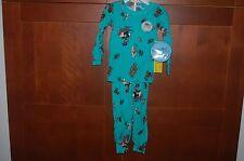 PAJAMAS Turquoise Size 5T Child PIRATES Long Sleeve 2 Piece Sleepwear USA NWT