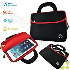 """Sleeve Case Bag w/Handle for 10"""" Portable DVD Player Black/Red"""