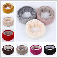 Womens Lady Warm Winter Infinity Circle Fleece Cable Knit Cowl Neck Scarf Shawls