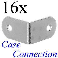 16x Schließwinkel 31x19mm - Stahl - verzinkt # L-Ecke L-Winkel Brace Steel
