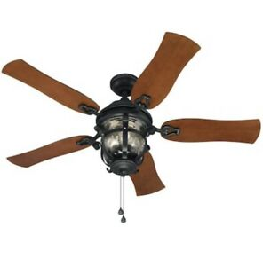 Harbor BreezeLake Placido 52-Ceiling Fan With Light Indoor/Outdoor 5 Blade NEW