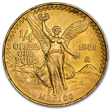 1/4 oz Gold Mexican Onza and/or Libertad Coin - Random Year - SKU #29205