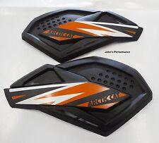 Arctic Cat Black & Orange Pride Sno Pro Hand Guards Wind Guards 6639-378