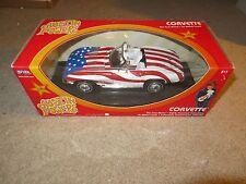 Joyride Austin Powers Red White & Blue Chevy Corvette Convertible 1:18 MIB 2003