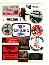 Lot Of 14 Oilfield-Drilling Coal Mining Stickers # 32