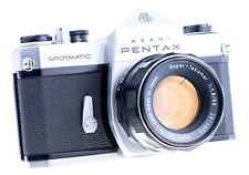 Pentax spotmatic sp con Pentax Super Takumar 55 mm f 1,8 tipo 37101 revisado
