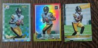 2019 Donruss Optic Diontae Johnson Red & Yellow Prizm + 2 more Diontae rookies