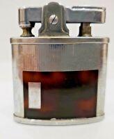 Vintage Auer Champion Enamel & Silver Tone Working Lighter