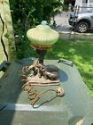 Vintage Art Deco Cast Elephant Family original Lamp shade and wire WOW!