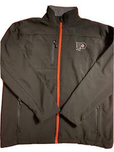 Philadelphia Flyers Jacket Mens Size X Large Fleece Lined Soft Shell AB1 1042