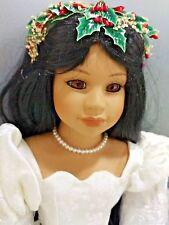 "Goebel 1995 LE US Historical Society Bride Pocahontas 23.5"" Porcelain Doll MIB"