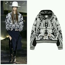 NWT H&M Studio AW 2016 Embroidered Hooded Sweater Hoodie, Black White Patterned