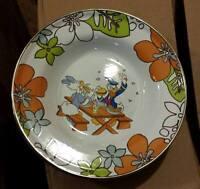 NEW Disney Store 2pc Set Daisy & Donald Duck Summertime BBQ Tin Soup Bowl Plate