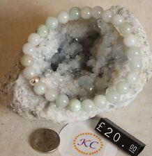 Auténtico Natural Jadite (Jade) Elástico Pulsera-Suerte, la curación, espirituales,