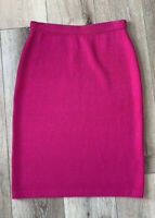 St. John Collection Pink Cosmo Knit Wool Blend Skirt New $495