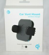 At&t Car Vent Mount Wireless Charger IPHONE SAMSUNG ANDRIOD X 11 9 10 8 7 FAST