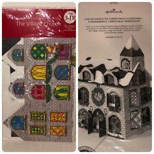 Hallmark The Village Church Christmas 3D Advent Calendar Count Down Holiday NEW