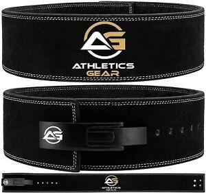 Weight Power Lifting Leather Lever Pro Belt Gym Training Powerlifting Athletics