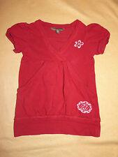 T-shirt tunique rouge manches courtes Complice Baby Hippy 4 ans