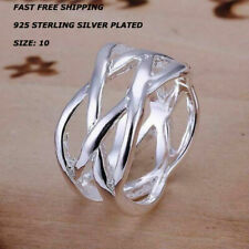 Women's Ring 925 Sterling Silver Plated Size 10 Fashion Jewelry Thumb Finger