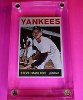STEVE HAMILTON 1964 Topps Baseball card #206 NY New York Yankees NmMt - MINT