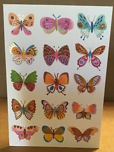 Beautiful Butterflies Hallmark Signature glitter foil greeting card any occasion