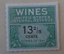 US Stamp Revenue Wine Tax RE185 MNH Cat $27.00