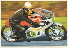 PHOTOCARD MIKE HAILWOOD 1967 HONDA 250/6 MOTO GP