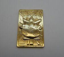 Nintendo Pokemon Togepi 24k Gold Plated Card R17127
