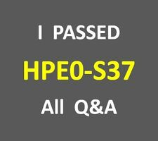 I Passed 104-Q&A ATP Server Solutions V3 Test HP0-S37 HPE0-S37 Exam