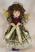 Wonder Treats Porcelain Angel Girl Doll 15 Inch With Stand