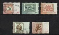 AUSTRALIA DECIMAL...2009 AUSTRALIA'S FAVOURITE STAMPS...SET OF 5..GOOD USED