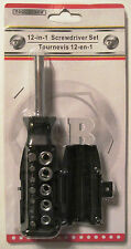 Tool Bench 12 in 1 Screwdriver Set, New in Factory Package Compact Size FREE S&H