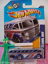 Case P/Q 2012 Hot Wheels SURFIN' SCHOOL BUS  #136 Scan∞Met GRAY∞