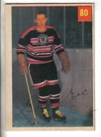 1954-55 Parkhurst Hockey Card #80 George Gee Chicago Black Hawks EX.