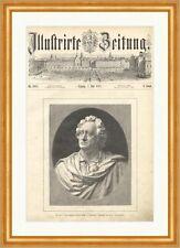 Die am 5. Juli enthüllte Goethe Büste in Karlsbad Prof Donndorf Holzstich E 7539