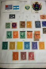 Salvador Early Mint Used Stamp Collection in Scott Album Nice